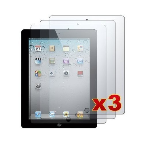 Importer520 Premium Screen Protector Film Clear (Invisible) for Apple iPad 2 and the New iPad (iPad 3, 3rd Generation) (3-Pack) NEWEST MODEL